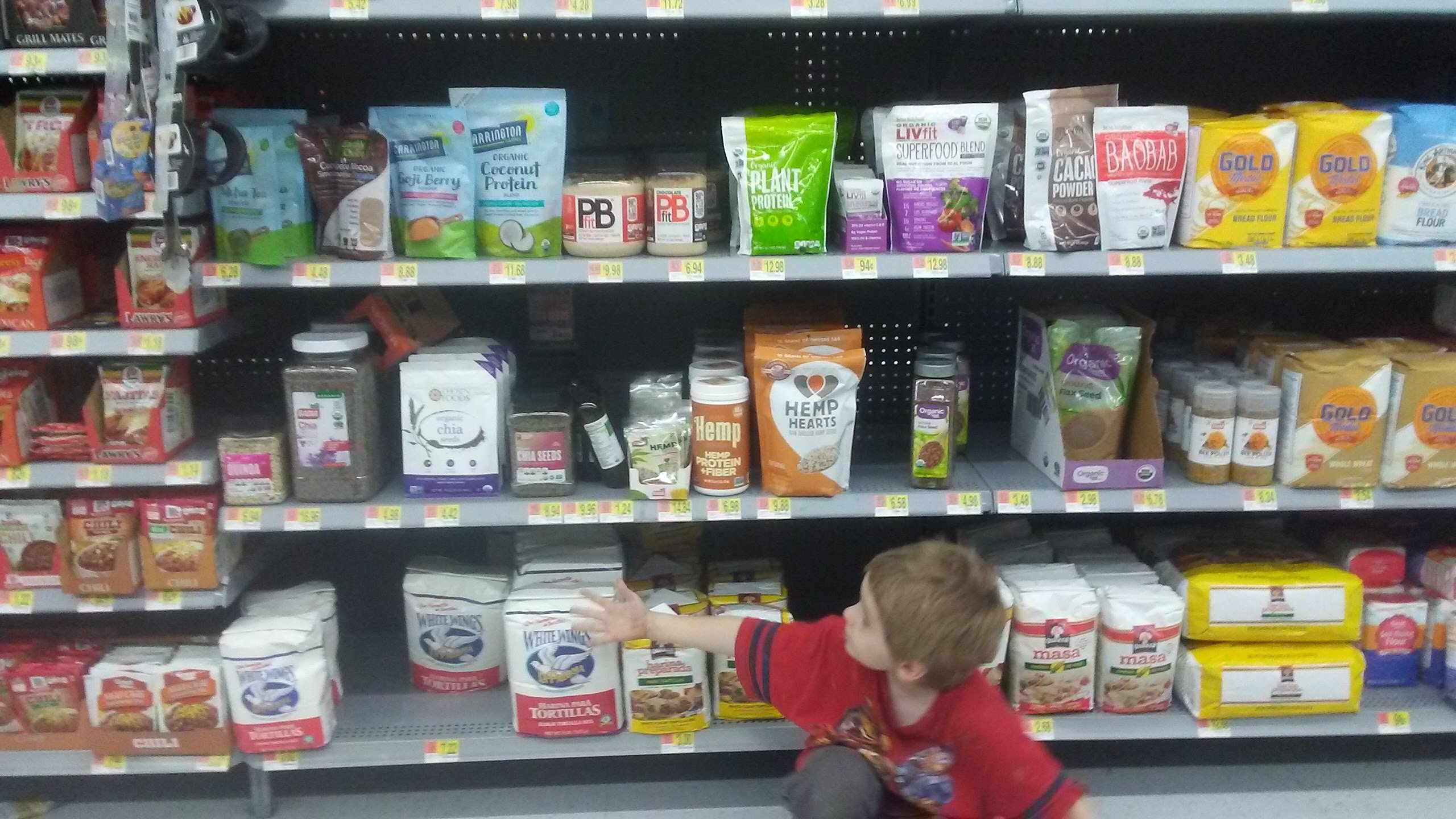 Beckett grocery shopping