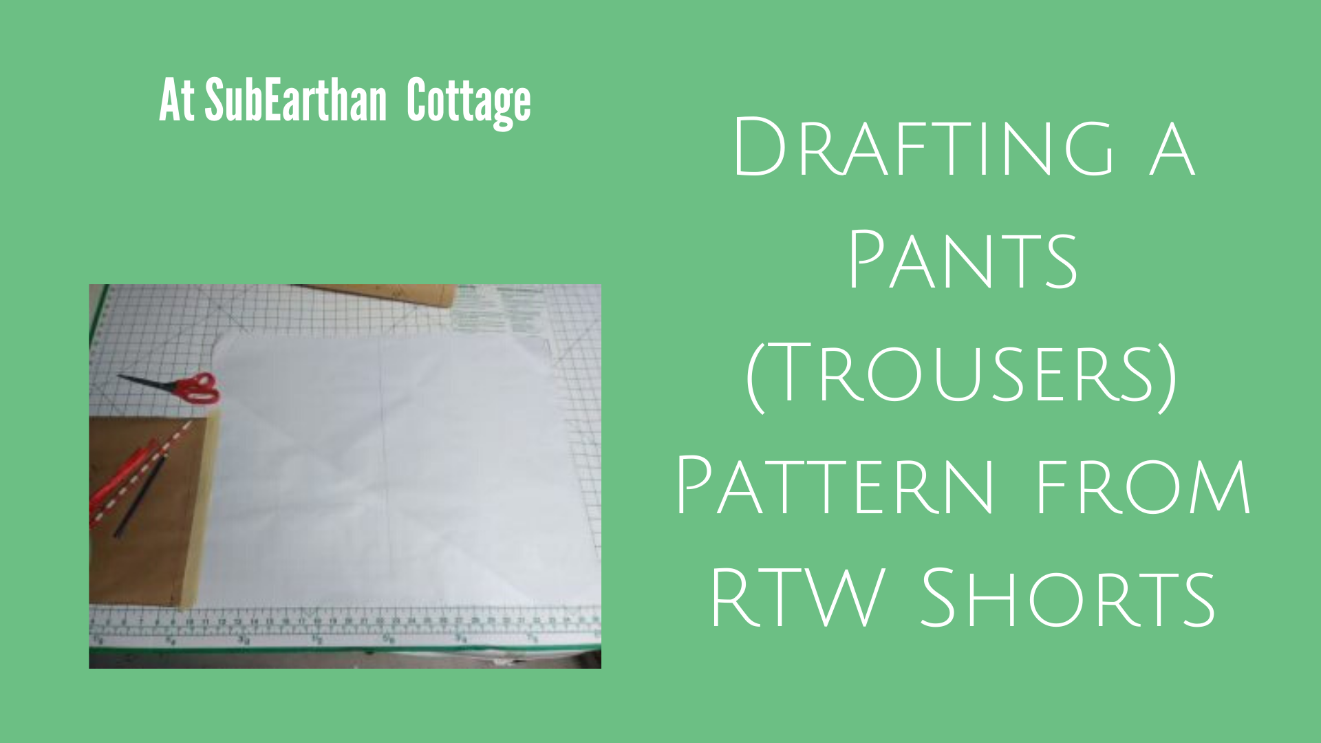 Pants pattern drafting